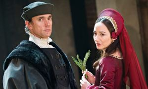 Ben Miles (Thomas Cromwell) and Lydia Leonard (Anne Boleyn) in Wolf Hall